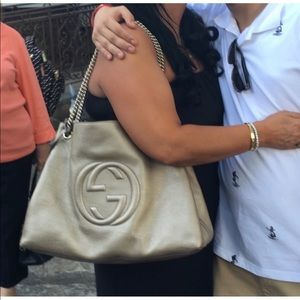 Gucci large gold hobo